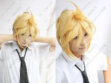 Kagamine Rin / Len VOCALOID Short Cosplay Wigs Blonde wig  AE68