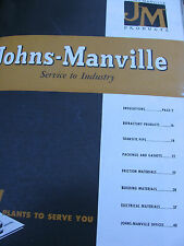 Johns-Manville Asbestos Packing Gaskets Pipe Linings Superex 1949 Catalog