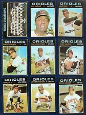 1971 Topps Lot of 45 Baltimore Orioles (23) Boog Powell Washington Senators (22)