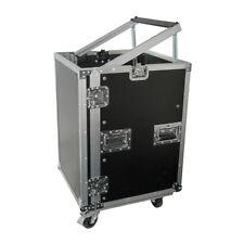 "Citronic 19"" inch Equipment 16U Rack Flightcase Cabinet with Wheels"