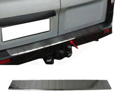To Fit Renault Trafic 2014Up Chrome Rear Bumper Protector S.Steel(Black)