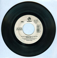 Imported CELINE DION It's All Coming Back To Me Now 45 rpm Record
