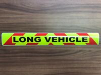 Magnetic sign LONG VEHICLE Reflective Red chevron Background Wide Load