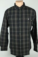 Wolverine Mens Medium Brown Plaid Long Sleeve Button Up Shirt w/ Metal Buttons