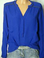 PROMOD Bluse Gr. D-36 blau Paspel Oversize Bluse/Tunika