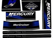 MERCRUISER THE NEW BLUE 2017 BRAVO ONE ORIGINAL COLORS  W/GRAY RAMS STICKER SET
