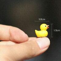 10Pc Mini Yellow Duck Ornaments Micro Landscape Kids Bath Time Cute Rubber Toy