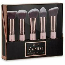 Luxie Beauty Rose Gold Collection Synthetic 5 Piece Kabuki Brush Set Makeup NEW