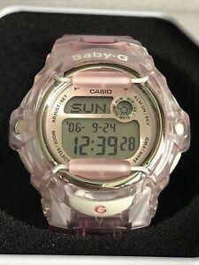 Casio Female Baby-G BG-169R-4ER World Time Telememo Digital Pink Watch.