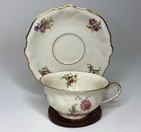 Elfenbein Rosenthal Viktoria Lombul Gold Floral Tea Cup & Saucer Fine China Set