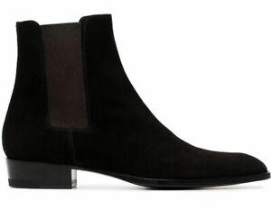 SAINT LAURENT WYATT CHELSEA BOOTS IN SUEDE - New Boxed