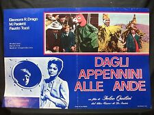 FOTOBUSTA CINEMA - DAGLI APPENNINI ALLE ANDE - E. R. DRAGO -1959-SENTIMENTALE-01