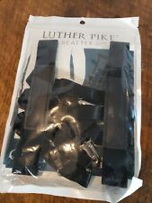 Luther Pike Seattle Suspenders for Men Leather Button End Elastic Tuxedo Y Back