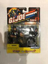 Lot of 2 2002 GI Joe vs Cobra Snake eyes Baroness CC Flint  2-Packs Sealed NEW
