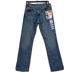 New Wrangler Mens Blue Jeans Medium Wash 30x30 Pockets Stretch Flex Comfort