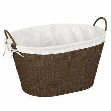 Household Essentials ML-7067 Paper Rope Wicker Laundry Basket With Handles, New!