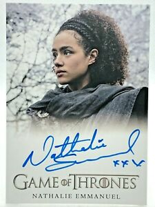 2020 Game of Thrones Complete Autograph Card - NATHALIE EMMANUEL as Missandei