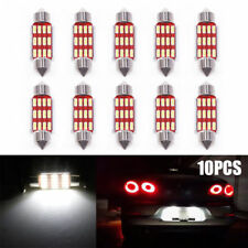 10X 36mm 4014 12 SMD LED Festoon Dome Lamp Car License Plate Light Lights