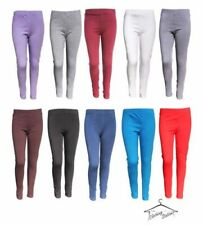 Patternless 100% Cotton Leggings (2-16 Years) for Girls