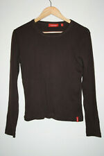 Xx By Mexx Women's Top Long Sleeve Brown Blouse Thin Summer 100% Cotton L