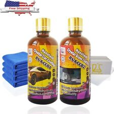 Nano Hydrophobic Ceramic Car Care Coating Crystal Car & Glass Coating 200ml Kit