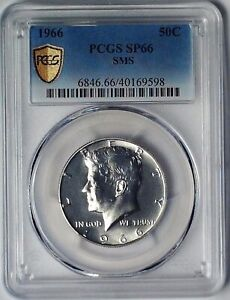 1966 Kennedy Half Dollar PCGS SP66  40% Silver  50 Cent Coin Special Mint SMS