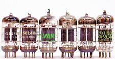 6 Tested Vintage Mixed Brands 5814A/Wa/12Au7/A/Ecc82 Triple Mica Vacuum Tubes