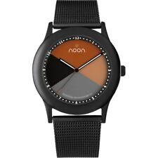 Noon Copenhagen 17017 Unisex Watch Orange Dial Black Mesh Strap 17-017