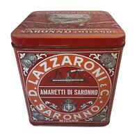 "Lazzaroni Saronno Milano 16oz. (1lb) Collectible Tin Can 6.5"" tall Container"