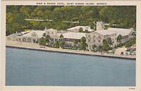 Postcard GA King and Prince Hotel St. Simon Island GA Aerial View on Atlantic Oc