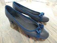 6d7234d0d16af Jolies ballerines en cuir bleu CHLOE authentique Taille 39