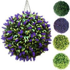 Artificial Hanging Topiary Lavender Balls Faux Box Wood Plant Garden Patio Decor