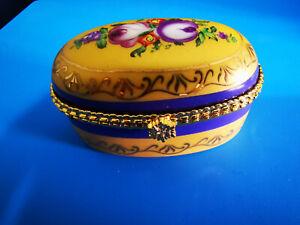 The Regal Collection Porcelain Floral Trinket Box