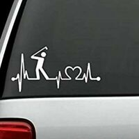 "TRUCK /"" CAMPER TRAVEL HEARTBEAT LIFELINE/"" VINYL DECAL STICKER CAR WINDOW"