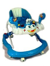 Baby Walker Blue First Steps Push Along Bouncer Activity Music Ride On Car New