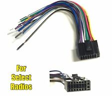 Car Stereo Radio Wire Harness Plug for Dual DVDN9131 XDVD9101 XDM6350 XDMA7100