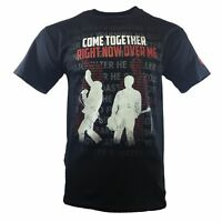 THE BEATLES Mens Tee T Shirt John Lennon Rock Band Apparel s Vintage Black NEW
