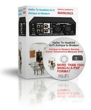 .Hafler To Heathkit Hi-Fi Antique to Modern Service Owner Schematics Manuals DVD