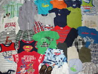 HUGE 35 pc. Lot of BOYS CLOTHES Spring/Summer Sz 6-12 Mos ~ Great Brand Names!