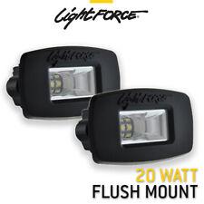 LIGHTFORCE 2 X Rok20 Flush Mount 20w Flood Beam Work Lamp Trailer Reverse Light
