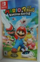 Mario + Rabbids Kingdom Battle (Nintendo Switch, 2017) Game and case mint