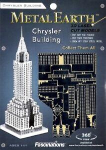 Chrysler Building New York Kit In Metallo 3D Fascinations FAMMS009