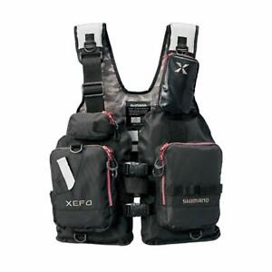 SHIMANO XEFO Fishing Vest VF-278R PVC Free size Japan NEW