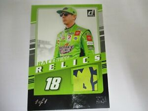 KYLE BUSCH 2021 DONRUSS RACING RACE DAY RELICS BLACK PARALLEL # RDR-KY  1 OF 1