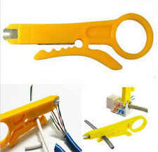 Wire Stripper Pliers Tool- Pocket Handheld Plug Cable Cutter Crimper -Yellow