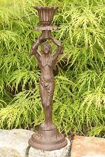 Gusseisen Engel Kerzenhalter Metall Deko Figur Skulptur