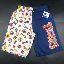 Vintage 90s Detroit Tigers Boys Kids Youth M 5-6 MLB Gym Shorts All Over Print