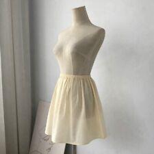 Women Lady Cotton Skirt Half Slip Underskirt Short A Line Petticoat Dress Mini