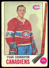 1969 70 OPC O PEE CHEE HOCKEY #6 YVAN COURNOYER LG-VG MONTREAL CANADIENS CARD