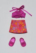 Kelly Doll Clothes Shoes * Halter Top, Orange Floral Skirt, Sandals * Fashion